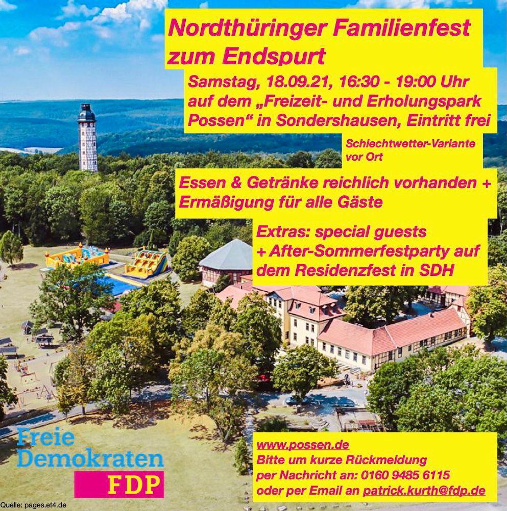 Familienfest in Nordthüringen am 18.09.2021